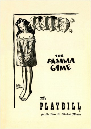Playbill cover for the 1954 season of The Pajama Game